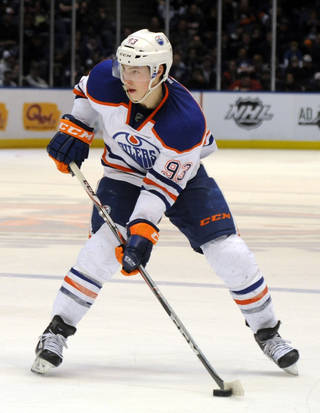Ryan Nugent-Hopkins was in the running to be the NHL's top rookie last season. AP photo