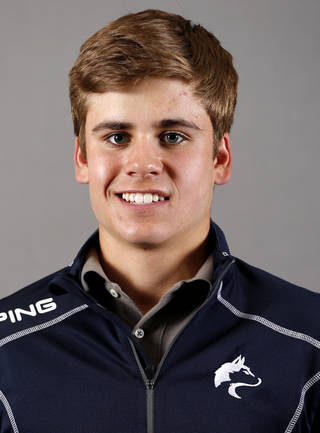 Hayden Wood with the Edmond North boys golf team poses for a mug during the spring high school sports photo day in Oklahoma City, Wed. Feb. 27, 2013. Photo by Bryan Terry, The Oklahoman