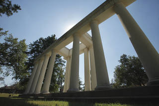 Columns near the entry of the University of Science and Arts of Oklahoma (USAO) on Thursday, October 6, 2011, in Chickasha, Okla. Photo by Steve Sisney, The Oklahoman ORG XMIT: KOD