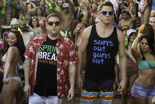 """From left, Jonah Hill and Channing Tatum reunite for their comedy sequel """"22 Jump Street."""" Columbia Pictures photo"""