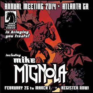 """Hellboy"" creator Mike Mignola will attend the ComicsPRO gathering of retailers in Atlanta next week."