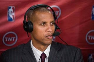 TNT basketball analyst Reggie Miller spoke with The Oklahoman about the Thunder, Russell Westbrook's knee, and the Eastern Conference. Photo by Jeff Lewis/Icon SMI
