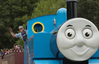 Kids can take a ride with Thomas the Tank Engine when the television character chugs into the Oklahoma Railway Museum. PHOTO PROVIDED PROVIDED
