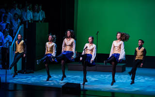 "Cast members rehearse for the of the step dancing musical ""Jeremiah."" Photo provided"