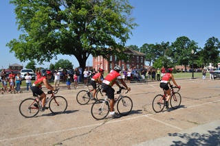 Remember the Removal riders return to Tahlequah in this photo from the 2011 ride. The ride retraces one of the routes of the Trail of Tears. PROVIDED