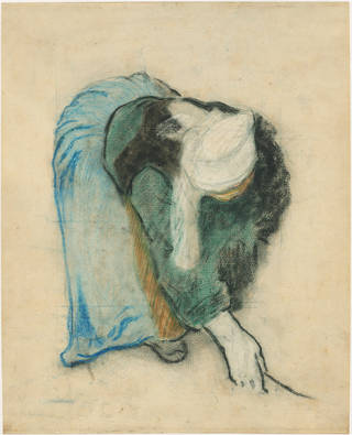 """A Breton Gleaner,"" an 1886 pastel drawing by Paul Gauguin. Image courtesy National Gallery of Art, Washington System Administrator"