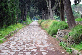 The ancient paving blocks of the Appian Way can be seen in a park just outside of central Rome. Photo by Rick Steves