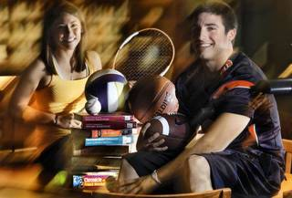 Scholar athletes Carissa Villaflor, of Heritage Hall and David Glidden of Mustang High School poses for a photo at Heritage Hall Library on Tuesday, June 14, 2011, in Oklahoma City, Okla. Photo by Chris Landsberger, The Oklahoman ORG XMIT: KOD