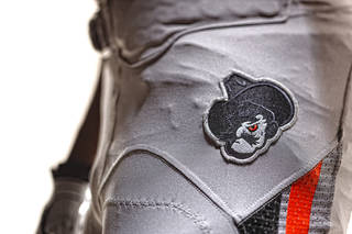 Oklahoma State's new football uniforms. Pictured here are the silver pants. PHOTO PROVIDED