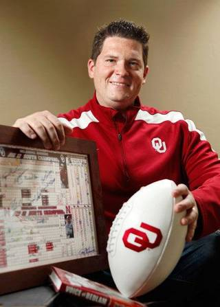 Toby Rowland poses in his home Friday, April 15, 2011. Rowland has been chosen to succeed Bob Barry as the broadcast voice of the University of Oklahoma (OU) Sooners college football program. Photo by Jim Beckel, The Oklahoman JIM BECKEL - THE OKLAHOMAN