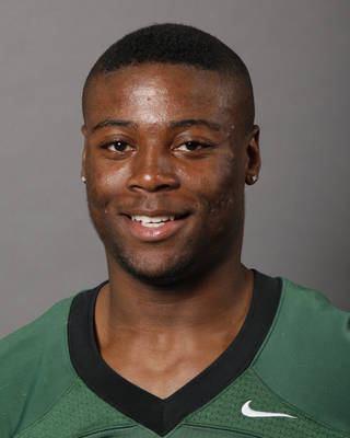 Khari Harding, Edmond Santa Fe, poses for a mug shot at The Oklahoman's photo day for spring high school football in Oklahoma City, Wednesday, May 16, 2012. Photo by Nate Billings, The Oklahoman