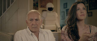 "Frank Langella as retired cat burglar Frank and Liv Tyler as his daughter Madison in ""Robot and Frank."" SAMUEL GOLDWYN FILMS PHOTO"