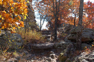 During the fall season, hiking trails in the state parks provide views framed with spectacular colors. PHOTO PROVIDED.