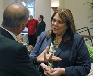 CNN political correspondent Candy Crowley spoke Wednesday at the University of Oklahoma. Crowley said both President Barack Obama and Republican challenger Mitt Romney have reason to be concerned going into the November elections. Photo by Silas Allen, The Oklahoman Silas Allen