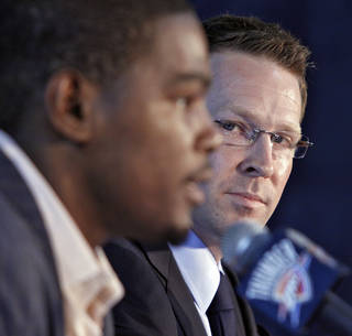 Sam Presti's big move, like signing Kevin Durant to a contract extension, are only part of the general manager's plan for the Thunder. Photo by Chris Landsberger, The Oklahoman
