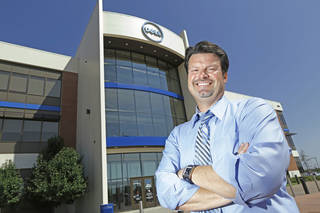 Chris Scully, site director at Dell in Oklahoma City, Monday August 5, 2013. Photo By Steve Gooch, The Oklahoman