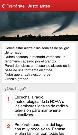 The American Red Cross' new Spanish-language tornado app gives officials a new tool to reach residents who may not understand emergency warnings in English. - Photo provided