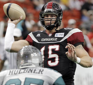 Tommy Grady signed with the Utah Blaze. PHOTO BY NATE BILLINGS, THE OKLAHOMAN ARCHIVE