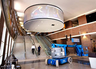 Upgrades to the Chesapeake Energy Arena in downtown Oklahoma City. Photographed Tuesday, Oct. 11, 2011. Photo by Jim Beckel, The Oklahoman