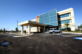 The Oklahoma Heart Hospital South medical office building is at Interstate 240 and Sooner Road. PHOTO PROVIDED
