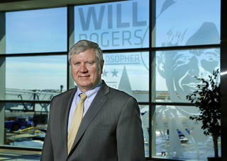 Oklahoma City Airports Director Mark Kranenburg on the concourse level at Will Rogers World Airport. Photo by Jim Beckel, The Oklahoman Jim Beckel -