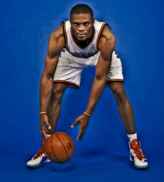 NBA BASKETBALL: Russell Westbrook during the Oklahoma City Thunder media day at the Chesapeake Energy Arena in Oklahoma City, Okla. on Tuesday, Dec. 13, 2011. Photo by Chris Landsberger, The Oklahoman