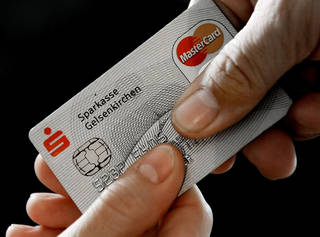 A MasterCard chip-based credit card is shown in Gelsenkirchen, Germany. AP Photo Martin Meissner - AP