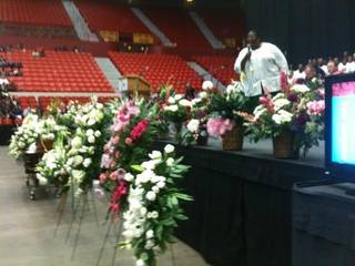 Flowers at the funeral service for Clara Luper at Cox Convention Center Friday, June 17, 2011. Photo by James Beckel