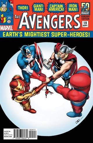 Former Oklahoman John Cassaday created this variant cover homaging the Avengers comics of the 1960s. Marvel Comics.