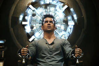 "Colin Farrell as Quaid in a scene from ""Total Recall."" COLUMBIA PICTURES PHOTO"