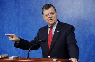 U.S. Rep. Tom Cole, R-Moore, during a press conference at the state Capitol in Oklahoma City Tuesday, June 1, 2010. Photo by Paul B. Southerland, The Oklahoman