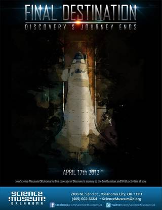 """Final Destination: Discovery's Journey Ends,"" will take place from 9 a.m. to 5 p.m. on Tuesday, April 17."