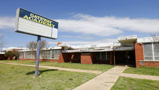 The Oklahoma City School Board voted to sell the old Gatewood Academy at 721 W Britton, seen Monday. The property will be sold to JAB Consulting for $110,000. Photo by Paul B. Southerland, The Oklahoman