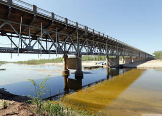 Environmental and design work already are underway on a bridge to replace the closed span that links Lexington and Purcell, said Casey Shell, chief engineer for the state Transportation Department. Photo by Steve Sisney, The Oklahoman STEVE SISNEY -