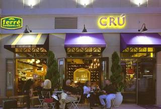 Cru Food & Wine Bar is at the Shops at Legacy in Plano, Texas. Photo provided by Cru Food & Wine Bar