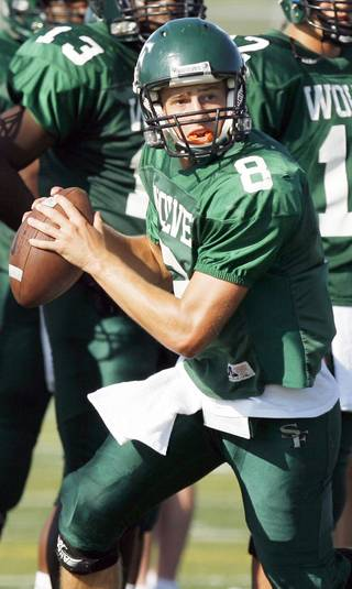 Quarterback Will Long has become a leader at Edmond Santa Fe. Photo By Nate Billings, The Oklahoman
