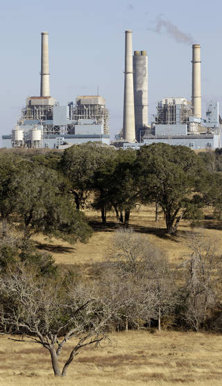 The Fayette Power Project, a coal-fired power plant, is shown in Ellinger, Texas. AP Archives Photo