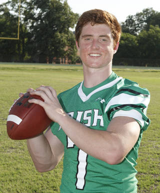McGuinness quarterback Jacob Lewis. Oklahoma City, OK, Monday, July 8, 2013, Photo by Paul Hellstern, The Oklahoman