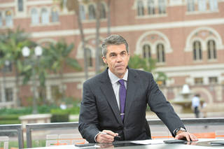 Chris Fowler will make his Saturday night play-by-play debut with the OSU-Florida State game at 7 p.m. on ABC. ESPN photo Scott Clarke - Scott Clarke