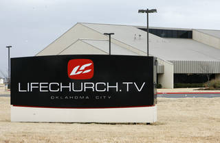 LifeChurch's sign is seen at 2001 NW 178. PHOTO BY PAUL HELLSTERN, THE OKLAHOMAN PAUL HELLSTERN