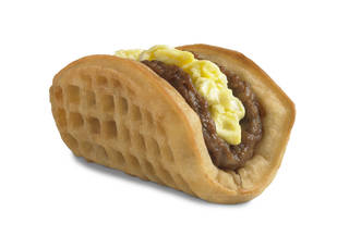 Taco Bell's new waffle taco is shown. AP Photo Uncredited - AP