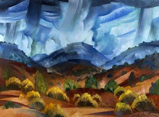 """Storm From the South,"" a 2011 oil on canvas by Tony Abeyta. Image provided"