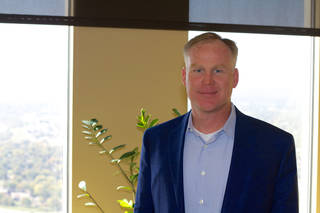 Williams Cos. Inc. CEO Alan Armstrong in his office atop the Williams Center in downtown Tulsa. Adam Wilmoth - photo by