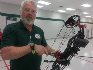 Steve Levering, manager of the archery department at H&H Shooting Sports. Photo By Ed Godfrey, The Oklahoman