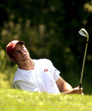Ryan Hybl, shown here playing for Georgia in 2003, was named the men's head golf coach at Oklahoma on Monday. Hybl is the younger brother of former OU quarterback Nate Hybl, who transferred from Georgia to Norman in 1999. (Photo by Bryan Terry, The Oklahoman Archive)