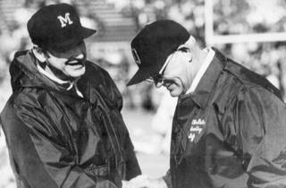 The two people most associated with Michigan-Ohio State are coaching greats: Michigan's Bo Schembechler and Ohio State's Woody Hayes. AP ARCHIVE PHOTO