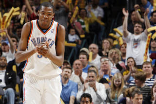 Kevin Durant lacks national respect. PHOTO BY NATE BILLINGS, THE OKLAHOMAN