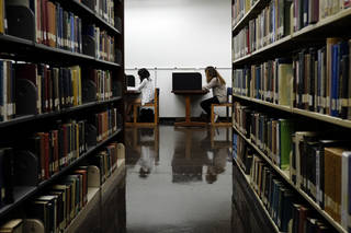 Students study in a library on the campus of California State University, Long Beach, in Long Beach, Calif. AP File Photo Jae C. Hong - AP