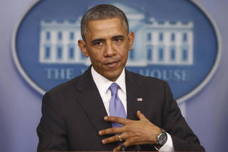 President Obama announces changes to his health care law Thursday. AP photo