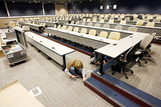 A 165-seat auditorium in UCO's Forensic Science Institute will be used by students and professionals.